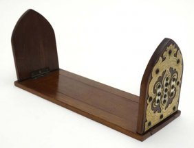 A Victorian Gothic Revival Lancet Shaped Folding Walnut