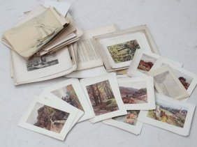 A Large Quantity Of Unframed Mostly Black And White