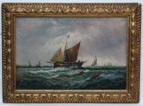 Edwina W Lara Xix, Oil On Canvas, Fishermen Attempting
