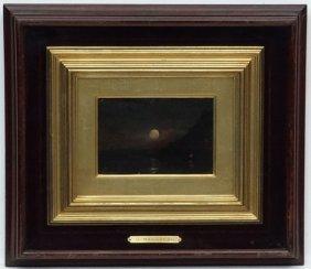 Ugo Manaresi (1851-1917) Italian, Oil On Panel, Fishing