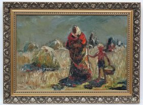 Anatoly Shariy (1936) Russian, Oil On Board, 'harvest '
