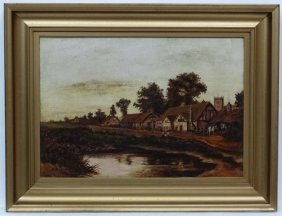 K. Prior 1932 Oil On Canvas Swan Green, Lyndhurst,