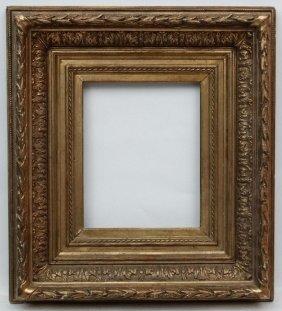 Gilt Frame : A C.1900 Gilt Frame With Laurel And