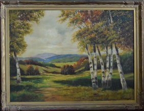 Landscape Oil Painting Of Autumn Scene
