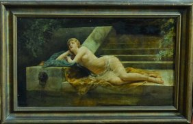 Signed Oil Painting Of Nude - Cabanel 1880