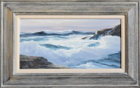 Seascape Painting Signed Bartok