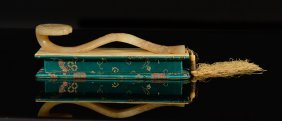Chinese Jade Ruyi Scepter With Fitted Base