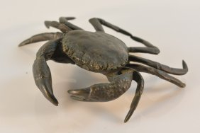 Japanese Bronze Model Of A Stone Crab