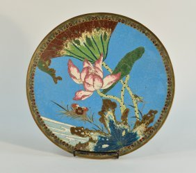 Japanese Cloisonné Charger With Naturalistic Approach