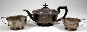 An Elizabeth II Silver Three Piece Tea Service With