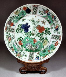"A Chinese Porcelain ""Famille Verte"" Circular Dish"