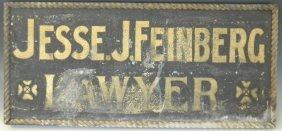 Vintage Lawyer Advertising Metal Trade Sign