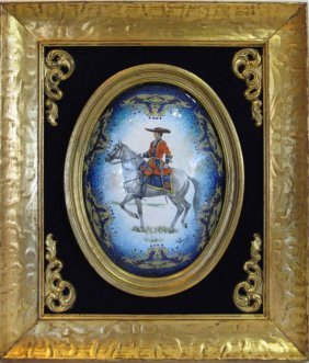 Enamel On Copper French Military Soldier