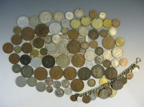 World Coins Some Slver: Italy, Great Britain,