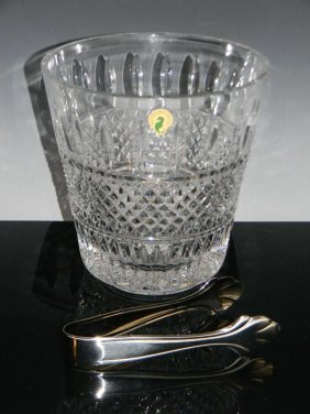 Waterford Crystal Irish Lace Ice Bucket & Tongs