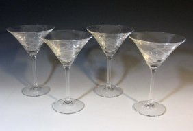 4 @ Vera Wang Wedgwood Martini Glasses