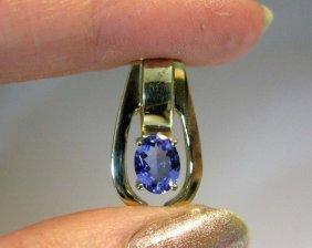Custom 18k Gold And Sapphire Enhancer Pendant