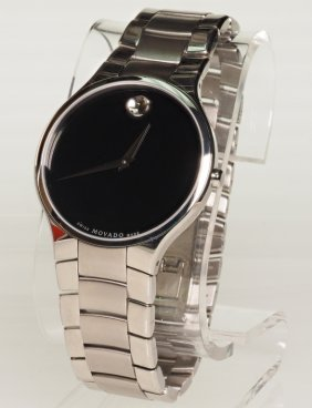 New Movado Black Serio Museum Watch