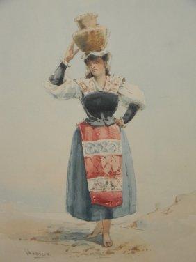 Anderson Watercolor Woman W/ Jug