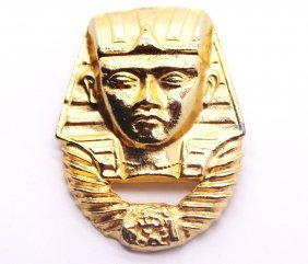 Vintage Gold Egyptian Pharaoh Pin Brooch