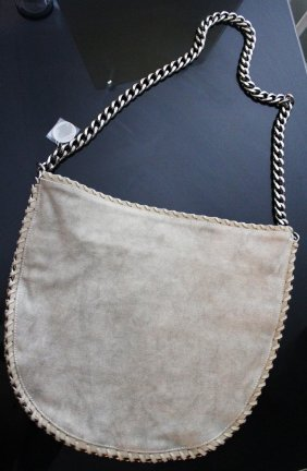 STELLA MCCARTNEY BRAND NEW BEIGE CHAIN HANDBAG/TOTE