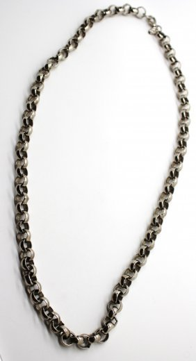 Vintage Erwin Pearl Silver Link Chain Necklace