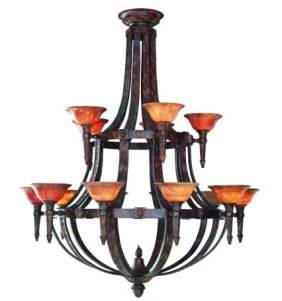 Aslan- Fifteen Light Chandelier Bronze Oxide-  $39,513