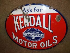 Kendall Motor Oils Sign
