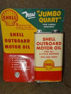 Shell Oil Can Display