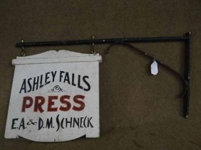 """ashley Falls Press"" Sign"