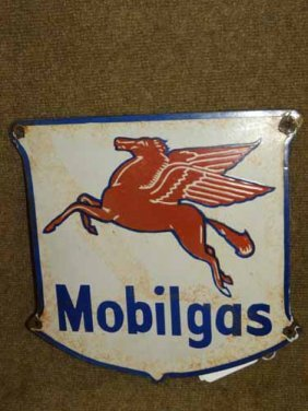 Mobilgas Pump Sign