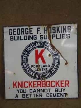 Knickerbocker Portland Cement Sign