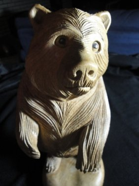 Wooden Hand Carved Bear