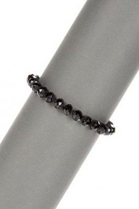 Diamond Polished Black Spinel Bracelet