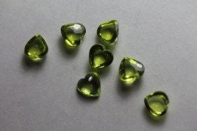 Natural Peridot Hearts 5.25 Carats - Vvs