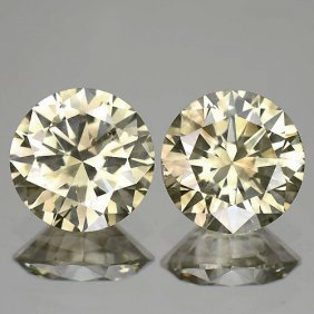 Natural Champagne Diamond Matching Pair 0.75 Cts