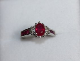Genuine Ruby 1.59 Cts Solid Gold Ring