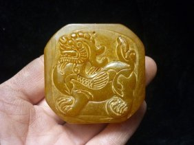 Chinese Old Jade Carving Kylin Seals