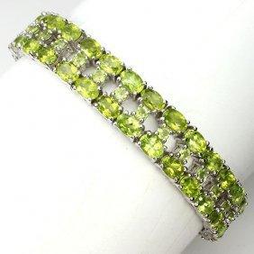 Stunning Natural Green Peridot 197 Carats Bracelet