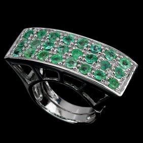 Natural Green Emerald Ring