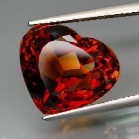 Natural Whisky Topaz Heart 14.65 Cts