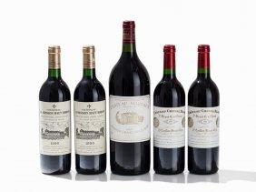 4 Bottles & 1 Magnum Top Bordeaux From 1989, 1990 &