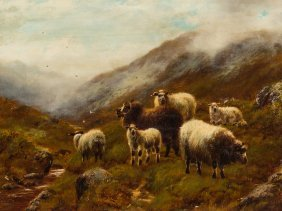 William H. Watson, Sheep In The Highlands, Late 19th