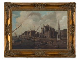 Doengaart, Painting, View Of A Dutch Town, Netherlands,