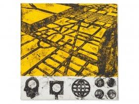 Matt Mullican, Serigraphy, Ideas On Yellow Ground, 1990