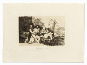 Francisco De Goya, Curarlos, Y á Otra, Etching, 1810-20