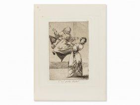 Francisco De Goya, No Grites, Tonta, Etching, 1799