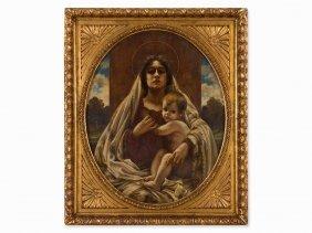 Karl Gampenrieder (1860-1930), Madonna, Painting, C.