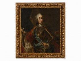 George Desmarées, Circle Of, Portrait Of Charles Vii,
