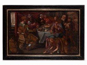 Flemish School, Mary Magdalen Washing Christ's Feet,